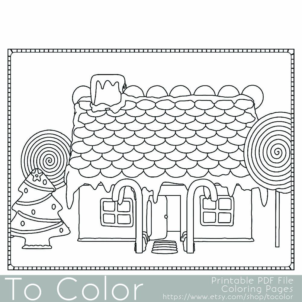 Copy Of Holiday Christmas Gingerbread House 1 Coloring Page For