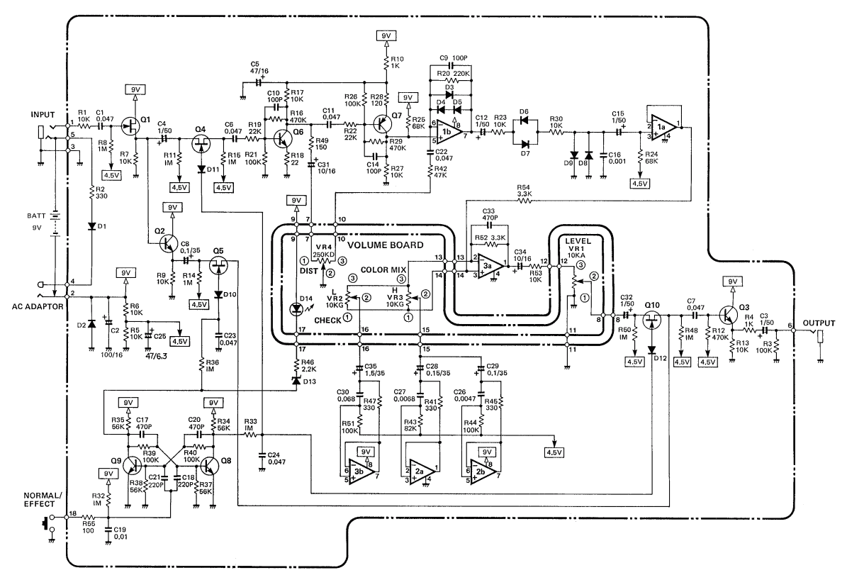Schematic Diagram Of Boss Hm 2 Heavy Metal Pedal