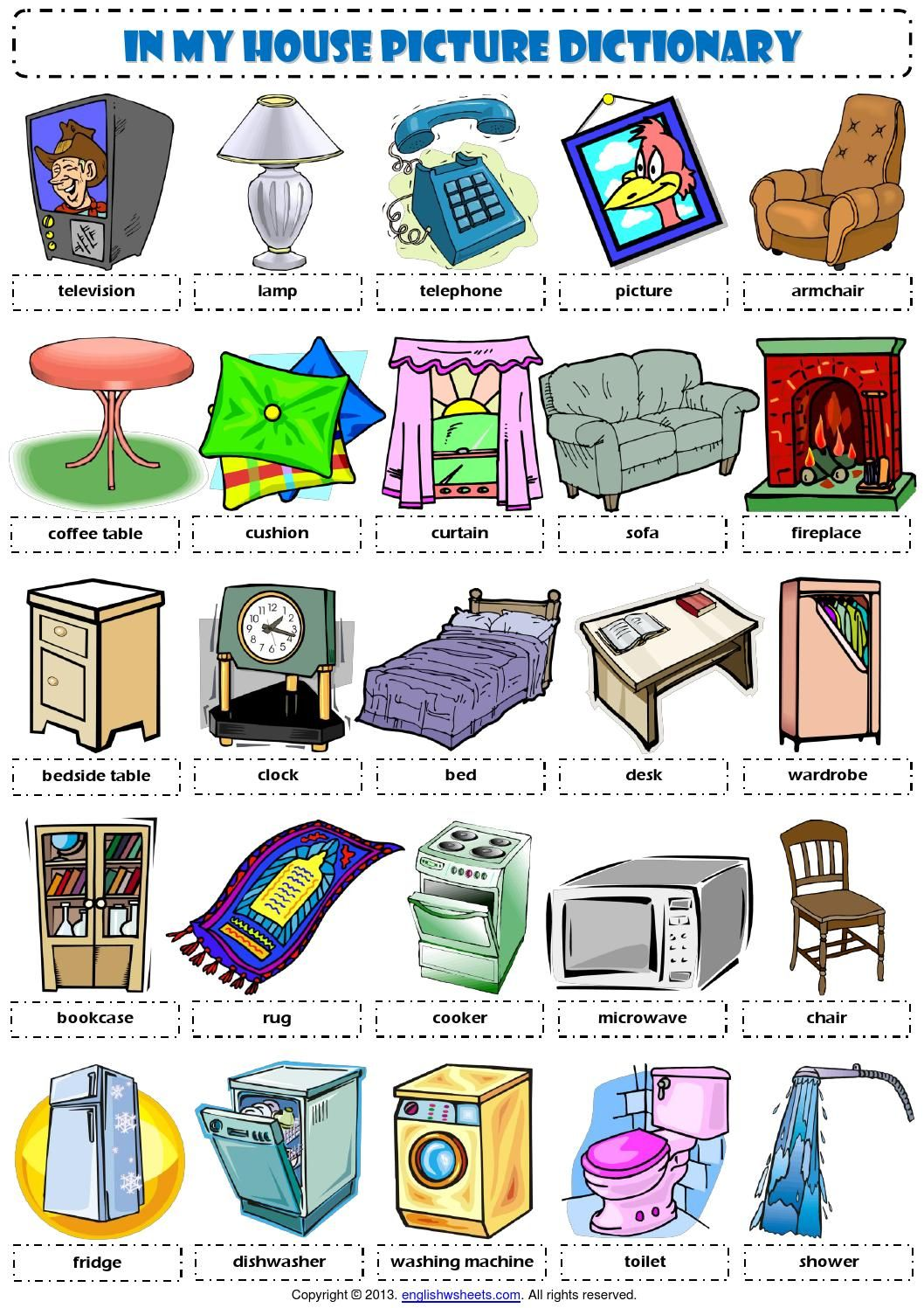 English Vocabulary In My House Furniture English