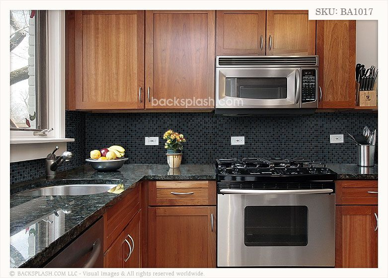 black countertops with backsplash | Black Granite Glass ... on Backsplash For Black Countertops  id=92819