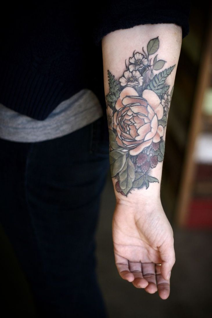 floral and woodsy coverup thanks so much HOT TATTOOS Pinterest