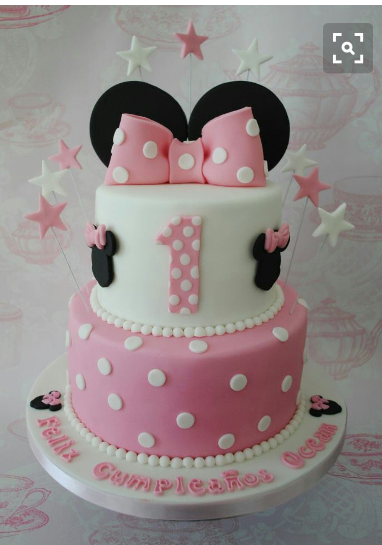 Pink Amp White Minnie Mouse Cake