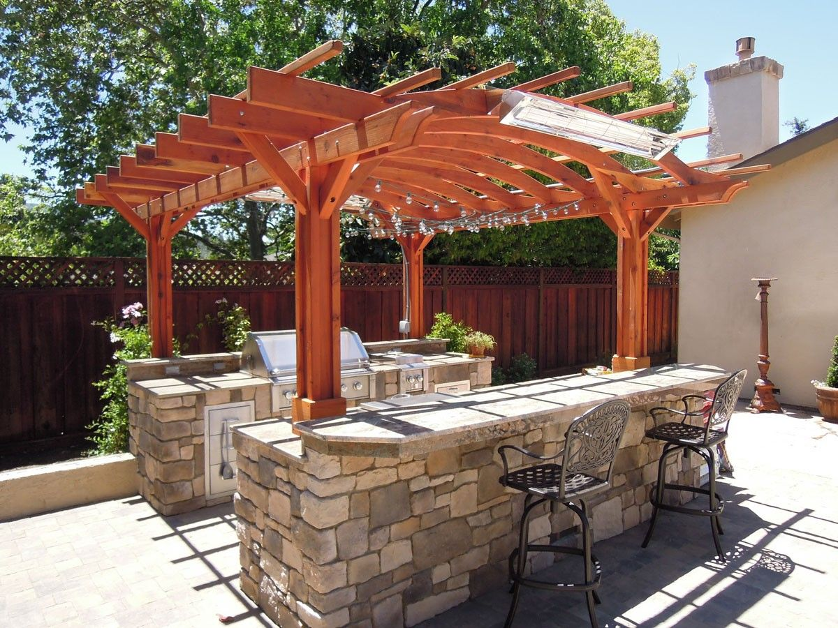 marin outdoor kitchen pergola kits built to last decades forever redwood landscape on outdoor kitchen gazebo ideas id=51651