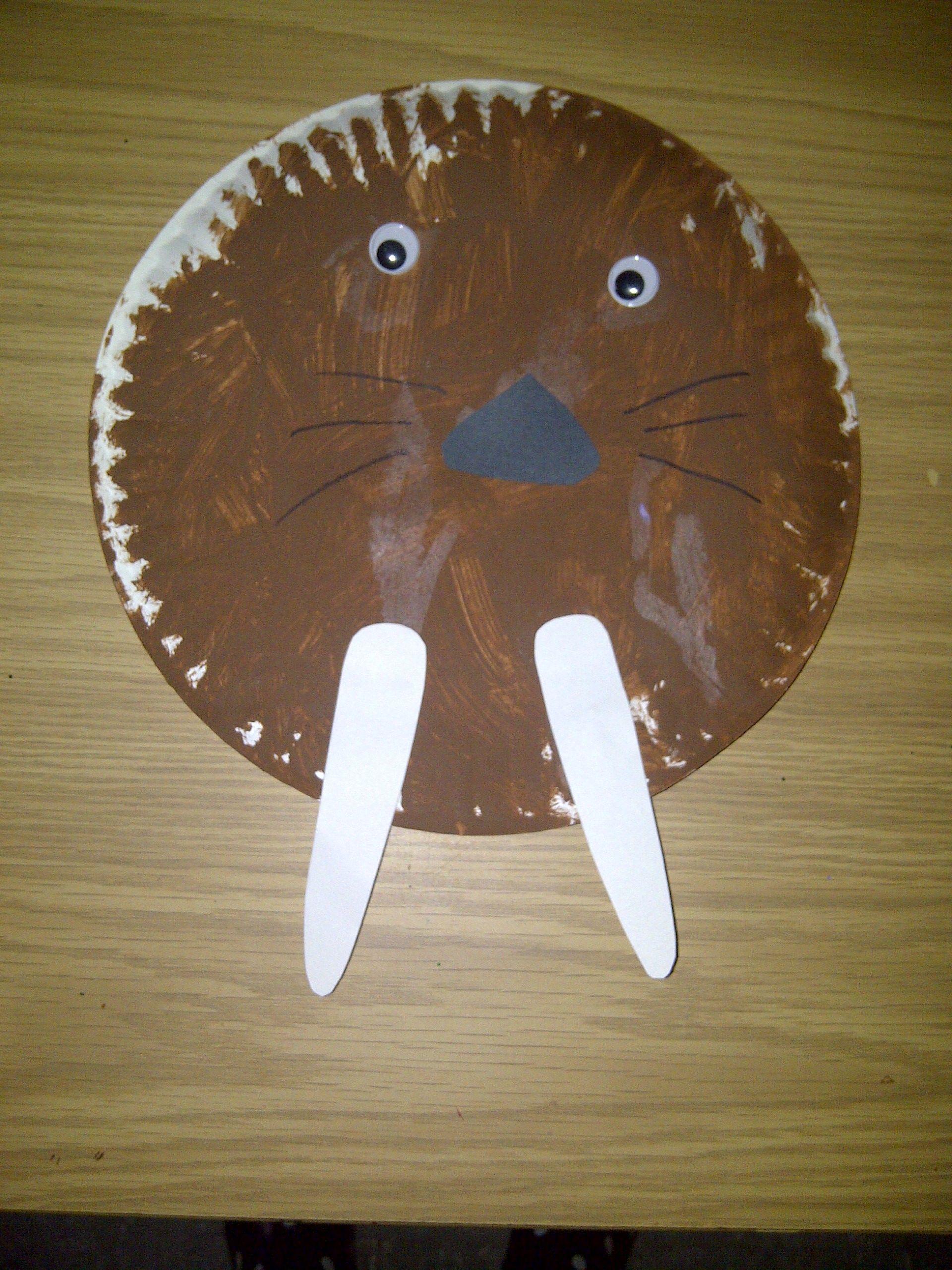 Paper Plate Walrus