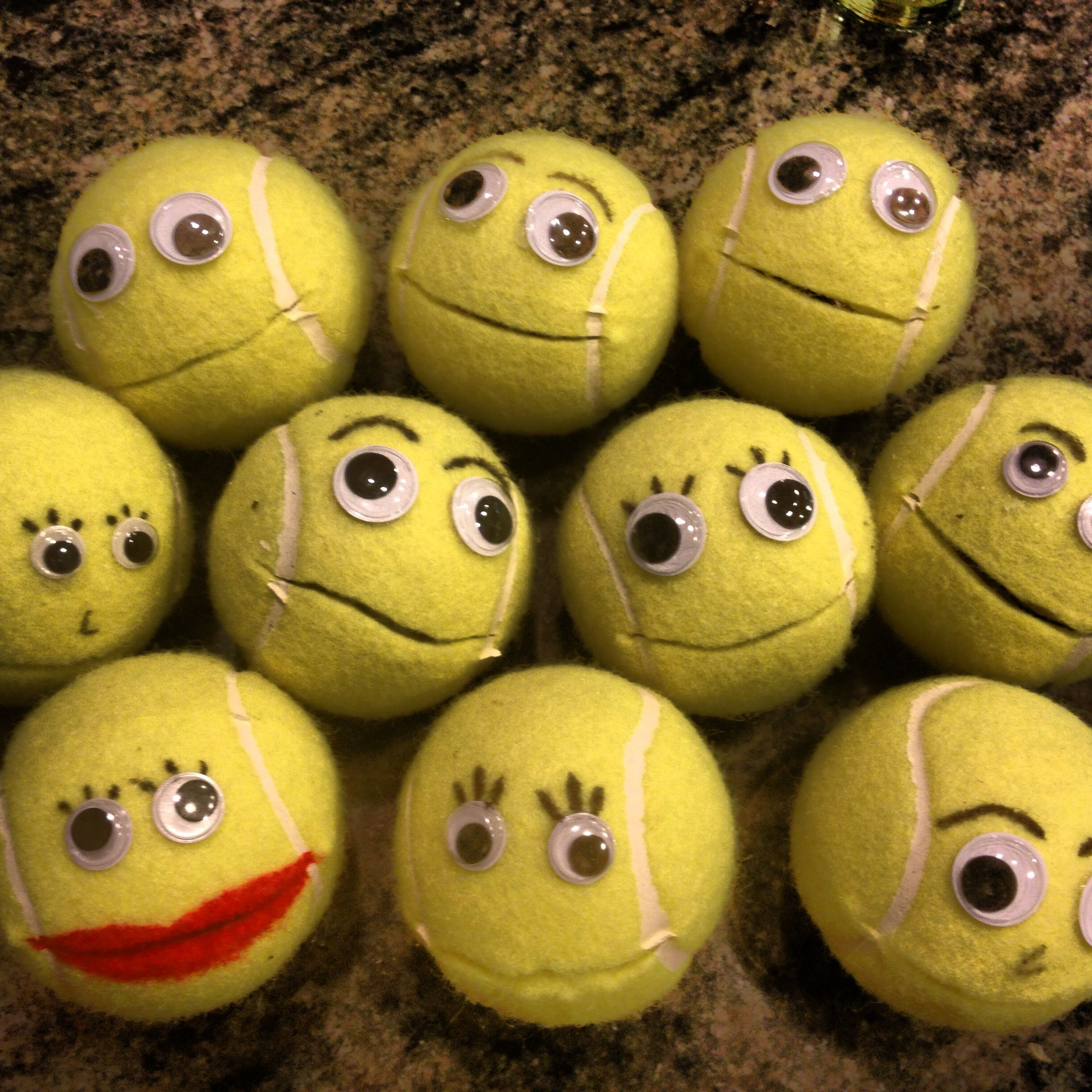 Occupational Therapy Hand Strengthening Activity Have Kids Feed The Tennis Ball Using Beads Or
