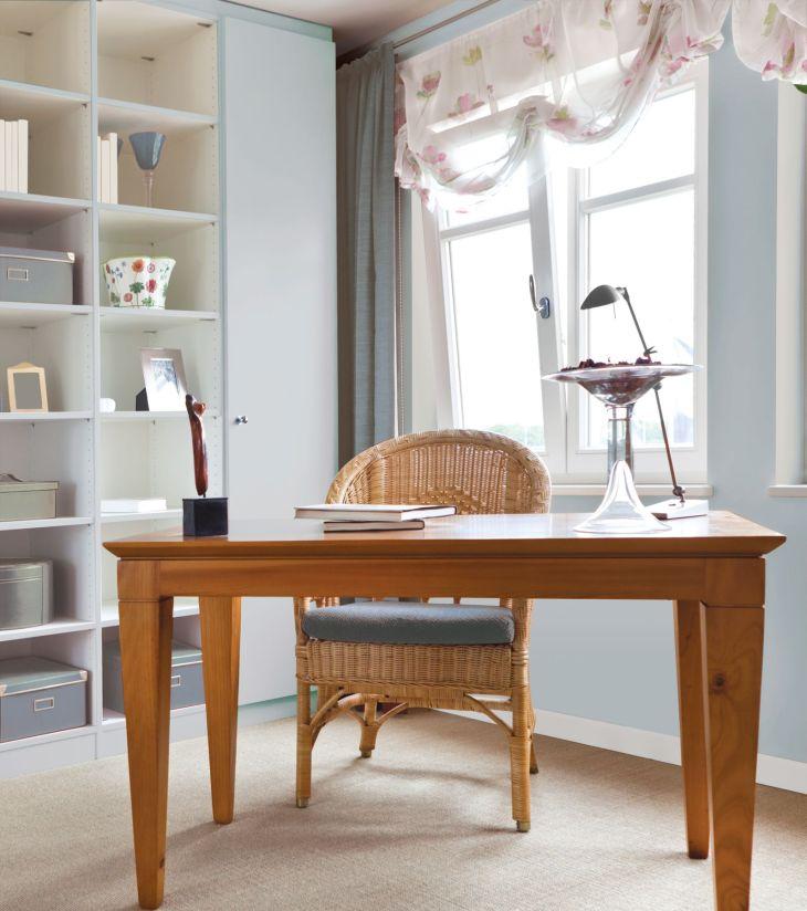 Color comparison light blue office PrestigePaints Color