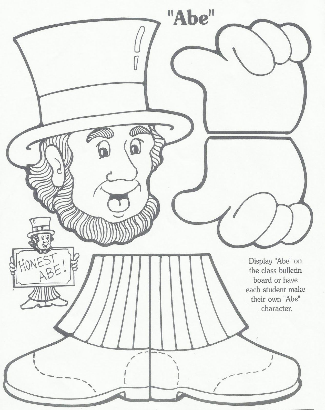 Abraham Lincoln Worksheets Elementary