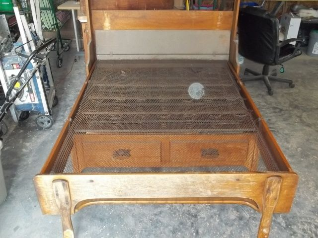 Collectibles General Antiques Antique Folding Bed Cabinet Fold Out