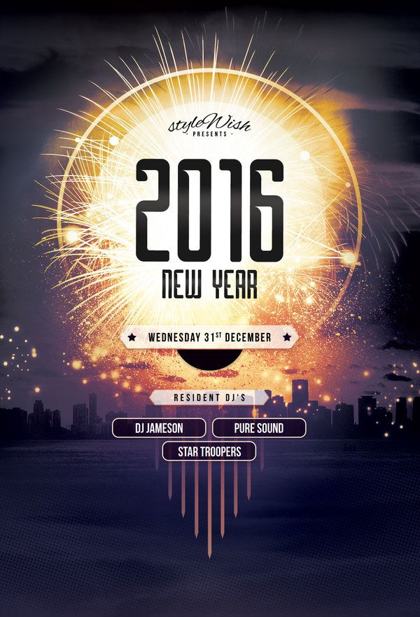 poster new year templates