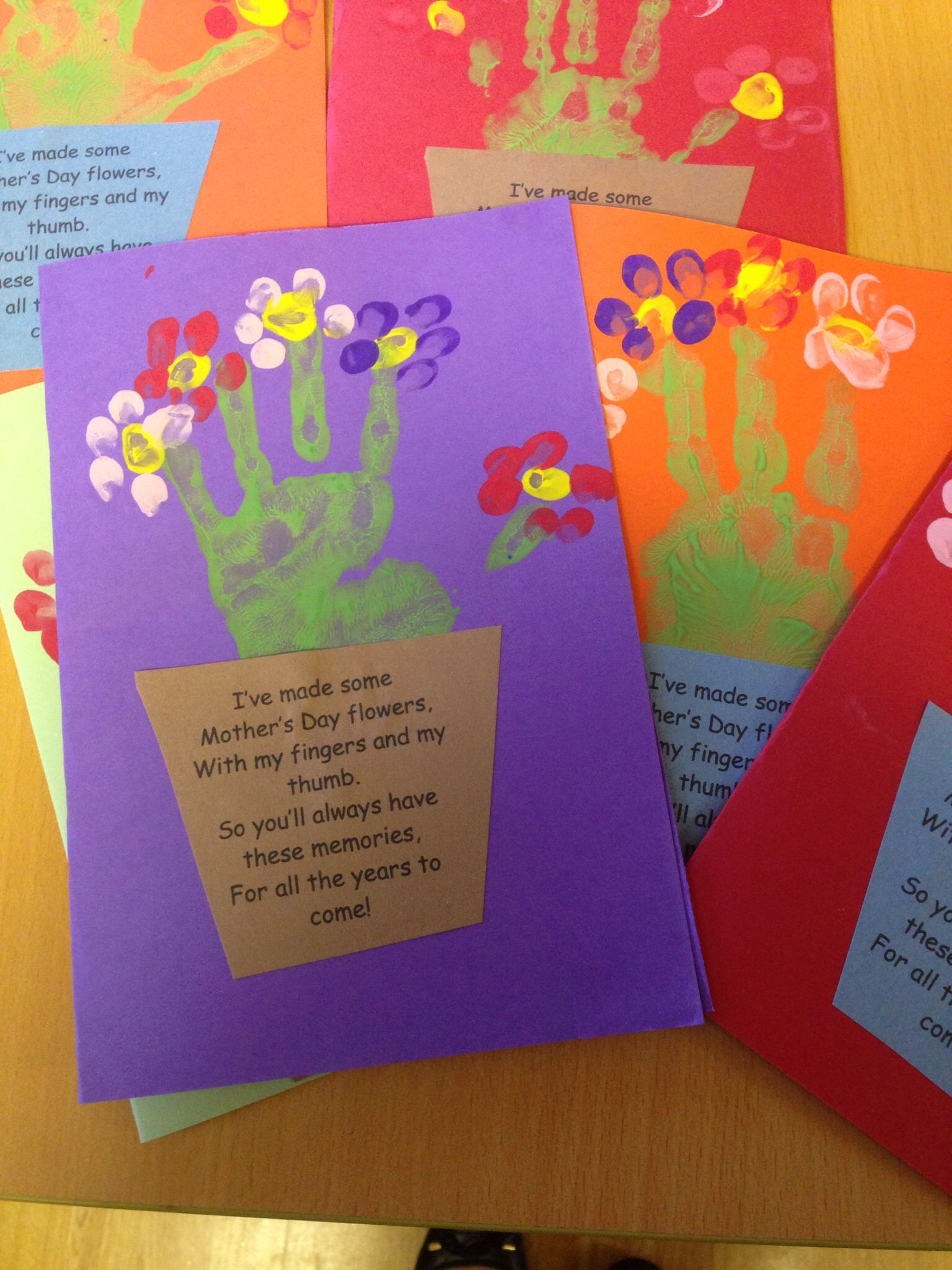 Mother S Day Handprint Card And Poem