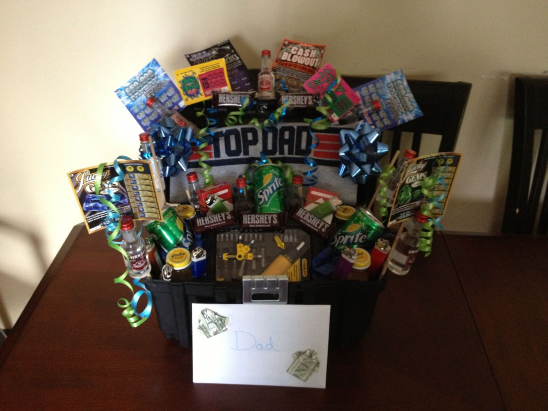 Fathers day gift basket gift ideas pinterest gift