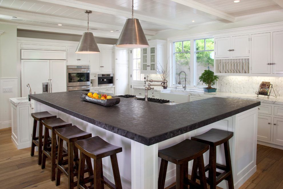 L Shaped Kitchen With Island Bench Novocom Top