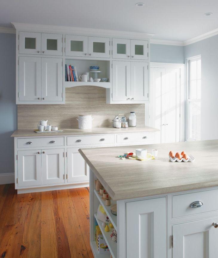 IdealEdge Travertine Silver Ogee Kitchen Countertop