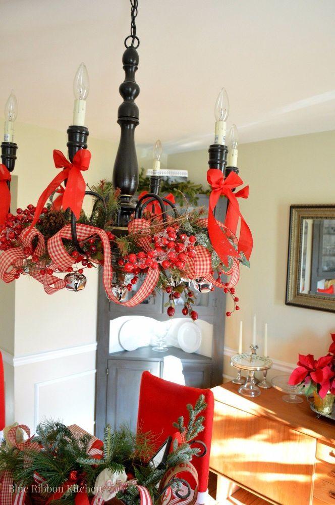 Christmas Holiday Chandelier Decor
