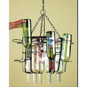 Tuscan Style Wine Bottle Chandelier All You Need Is The Bottles