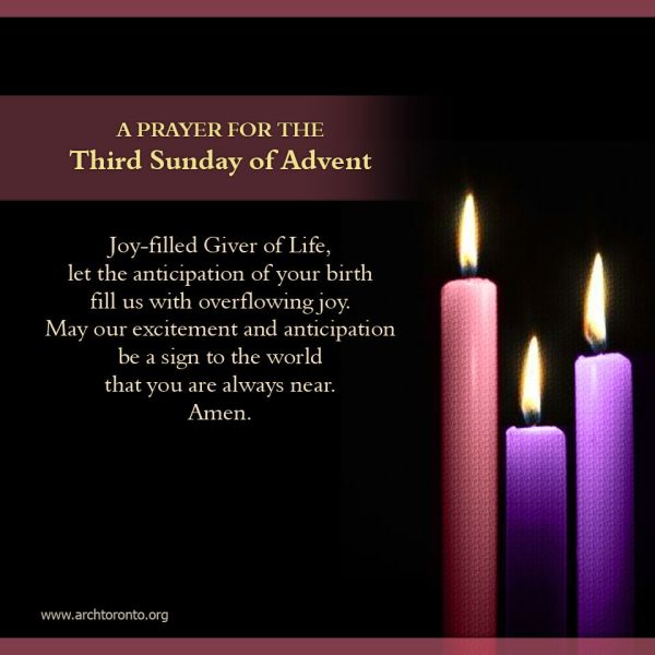 Prayer for the Third Sunday of Advent   Prayers & Quotes ...