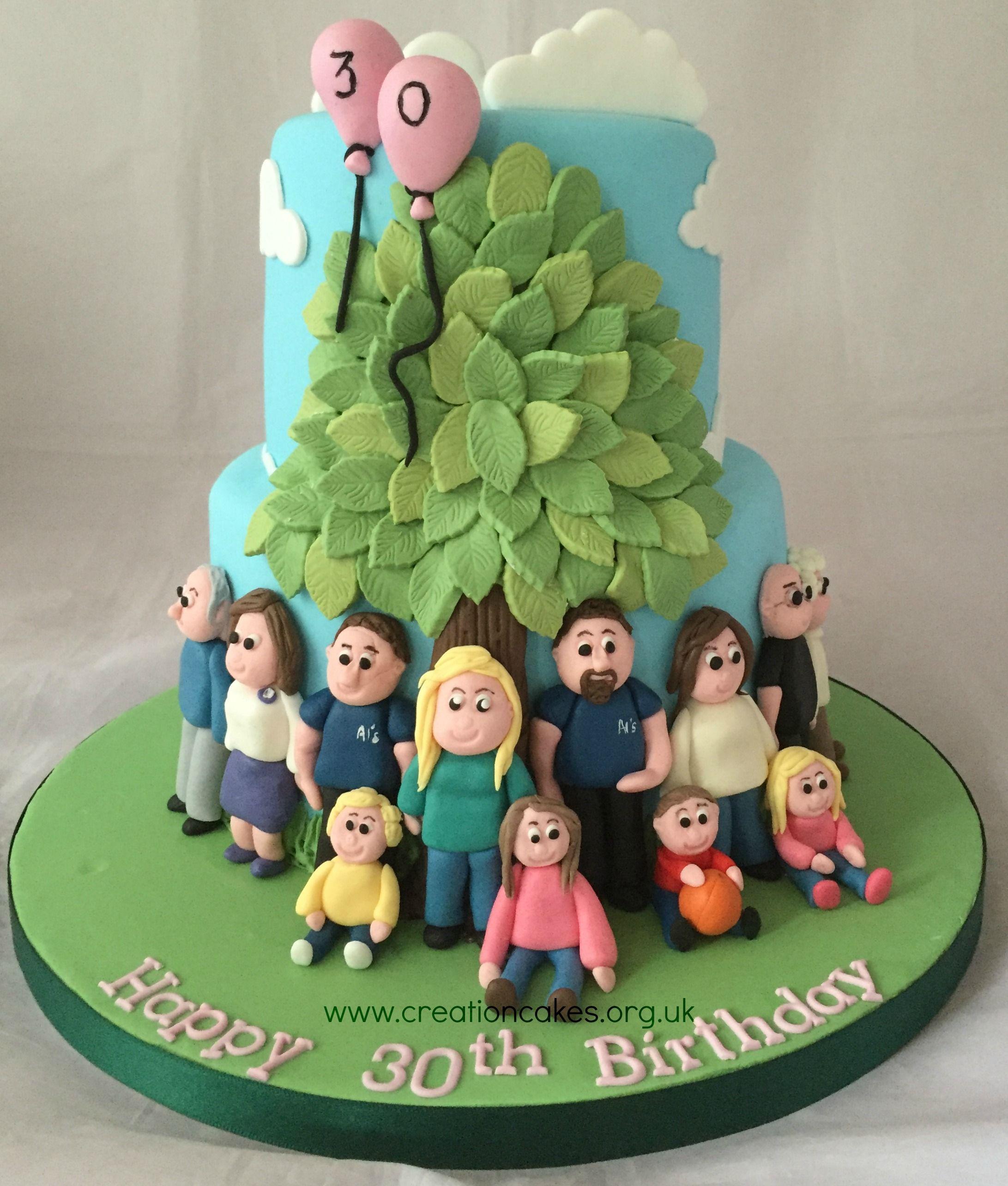 Family Tree 30th Birthday Cake