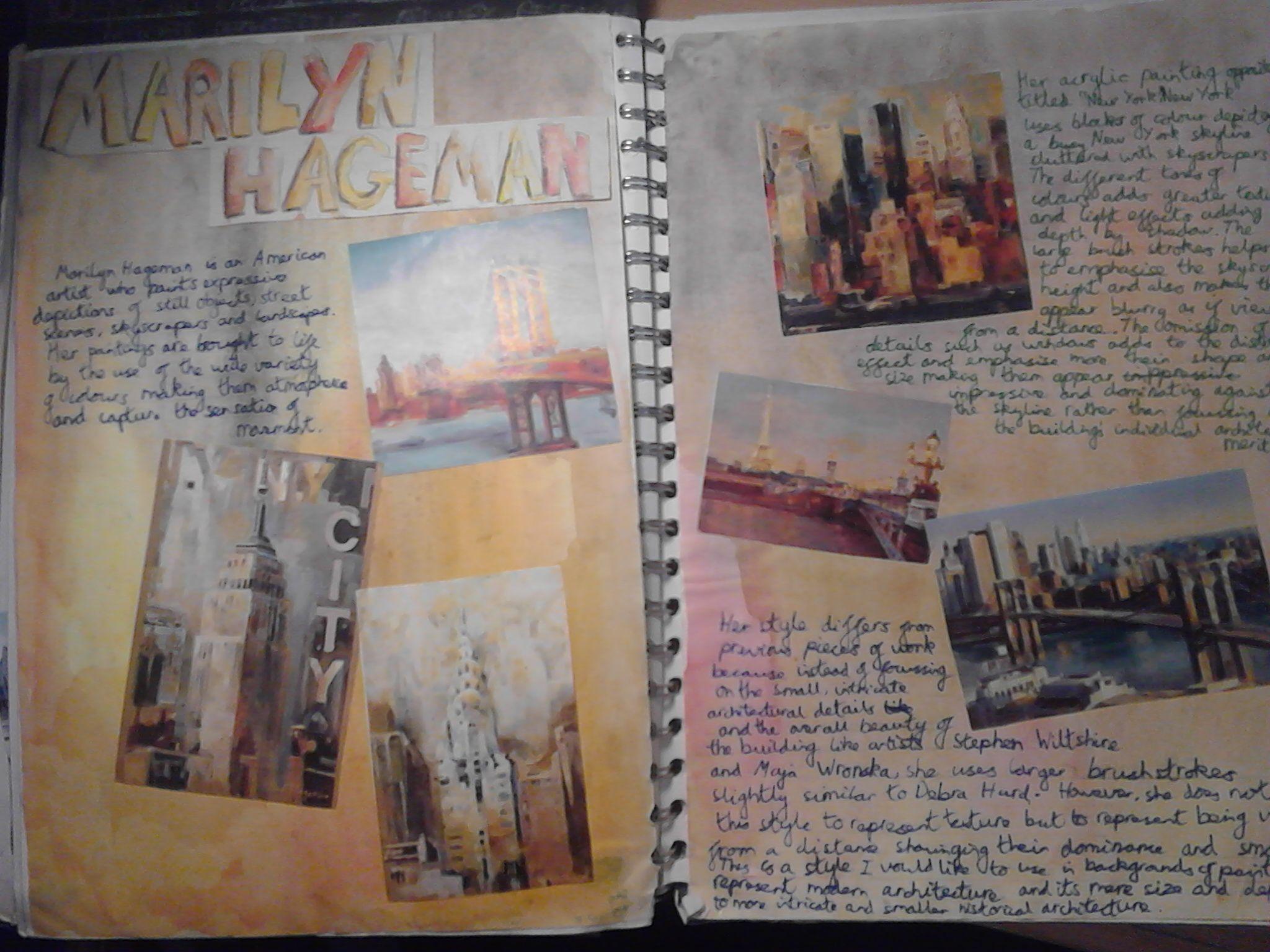 Marilyn Hageman Artist Research Page