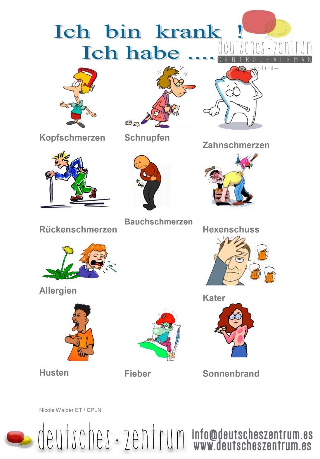 Ich Bin Krank Deutsch Aleman Wortschatz