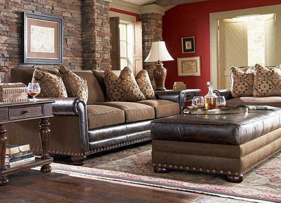 Havertys Landon Living Room Collection Shows How The West Was Really Won Leather And
