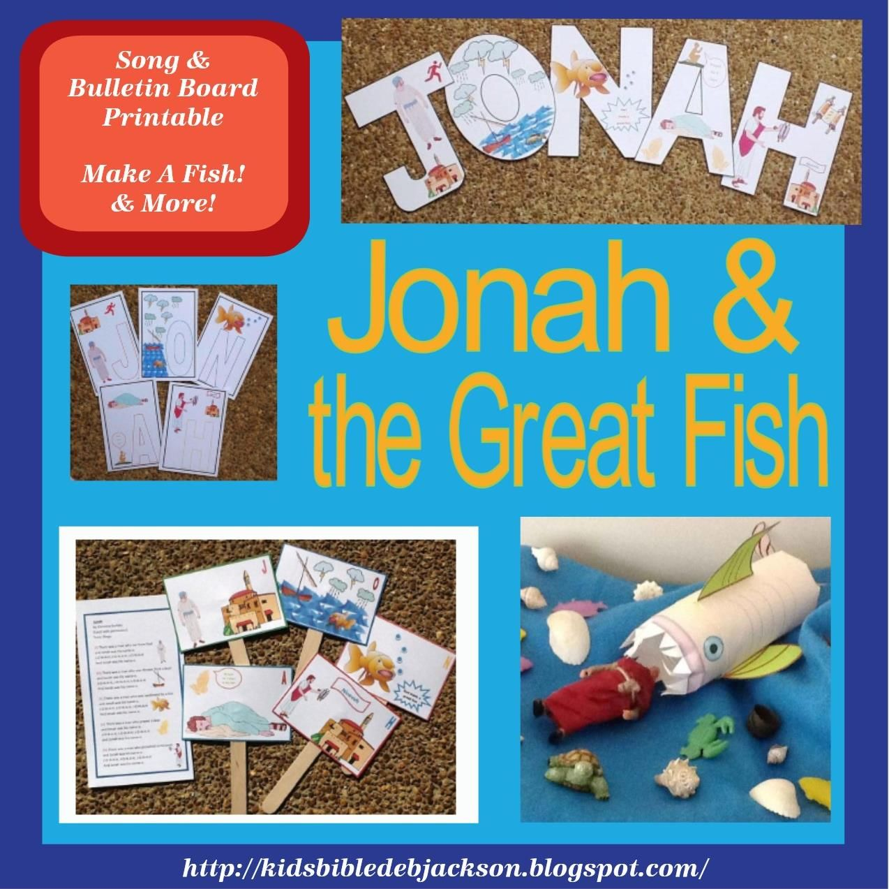 Bible Fun For Kids Jonah And The Great Fish For Preschool