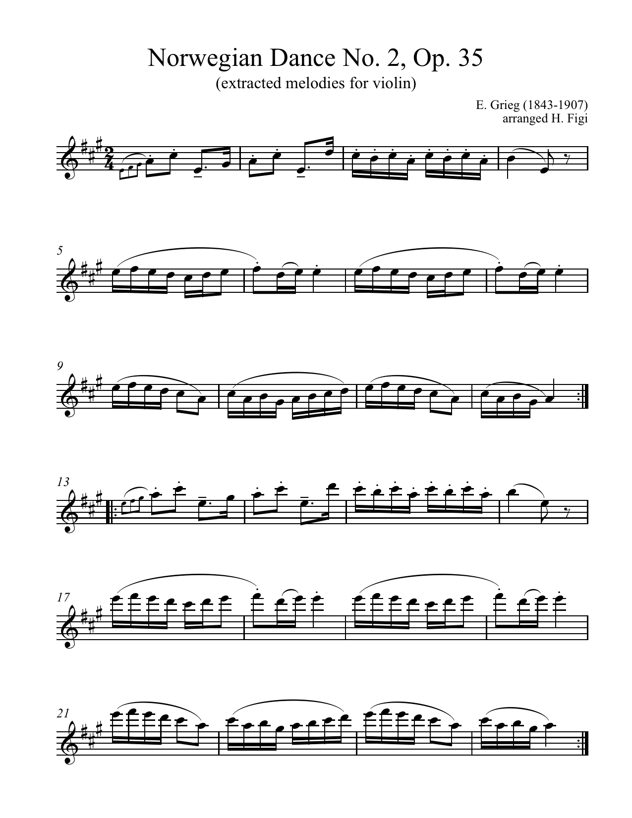 Norwegian Folk Music Extracted Melo S From E Grieg S