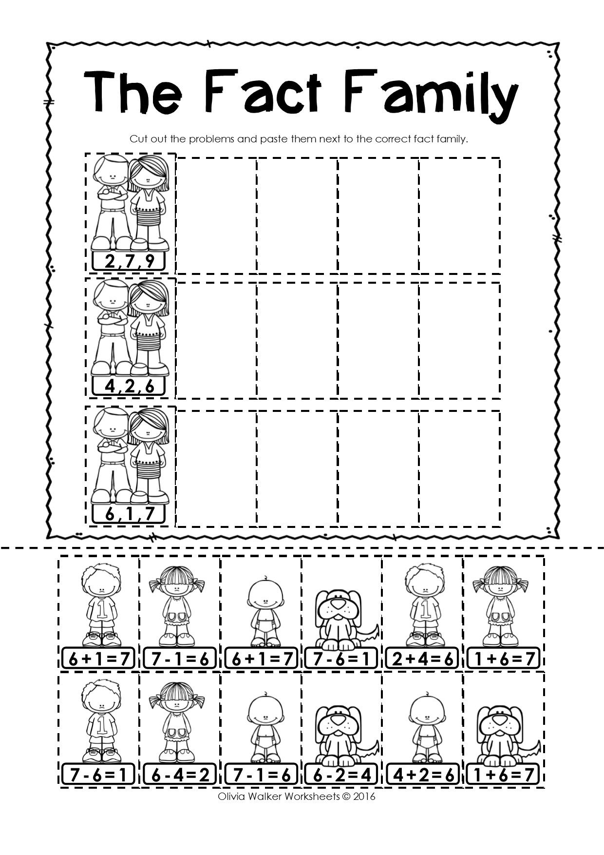Apple Tree Cut And Paste Worksheet For Kindergarten