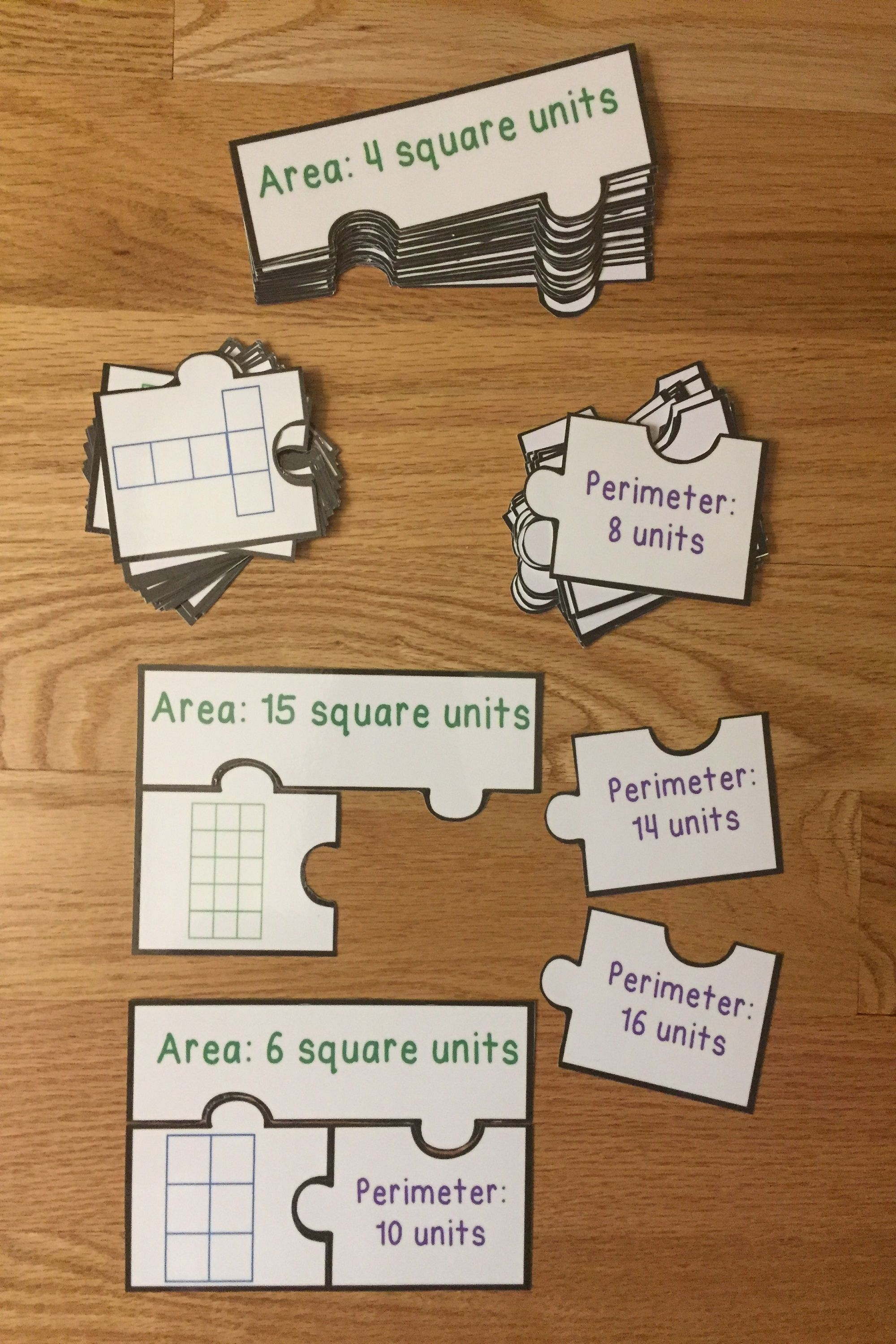 Counting Square Units Area And Perimeter Game Puzzles 3