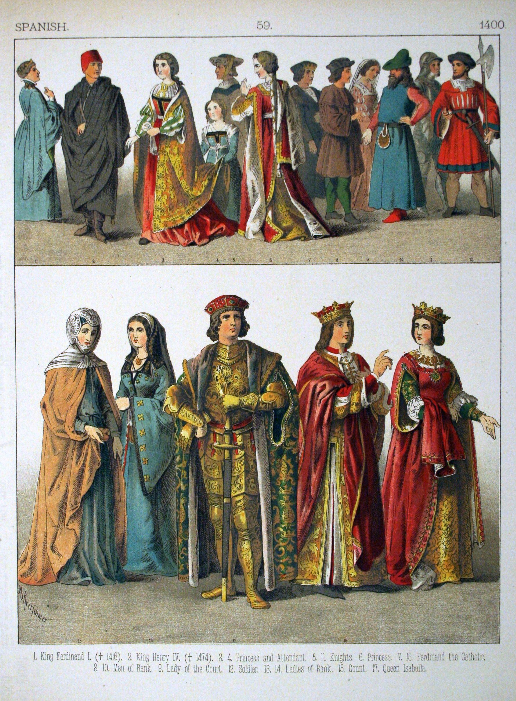 History Of Costume Description Spanish