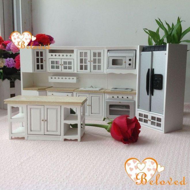 Bl 112 dollhouse miniature diy furniture wood oak kitchen