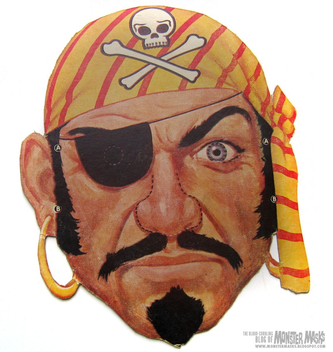 Free Vintage Pirate Cut Out Printable Mask Free Printable Halloween