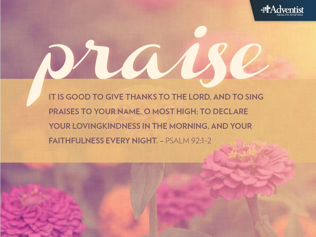 It Is Good To Give Thanks To The Lord And To Sing