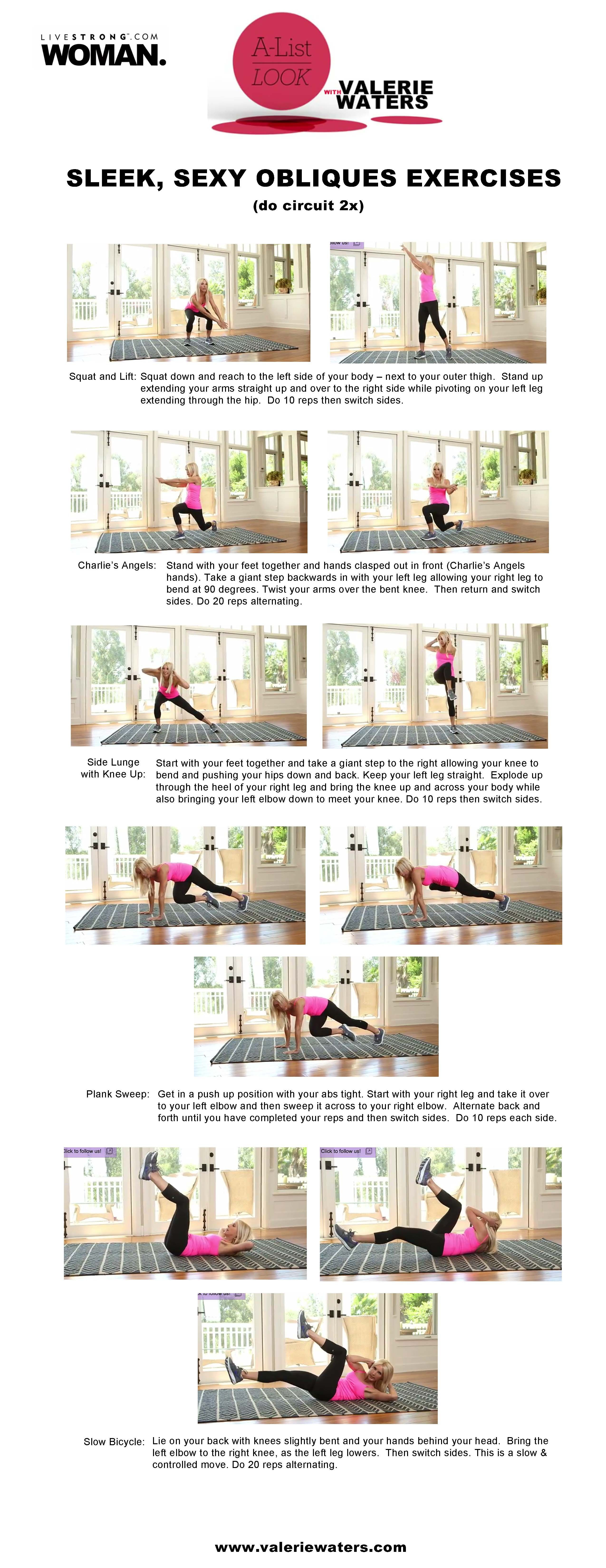 Sleeky Obliques Exercises Livestrong A List