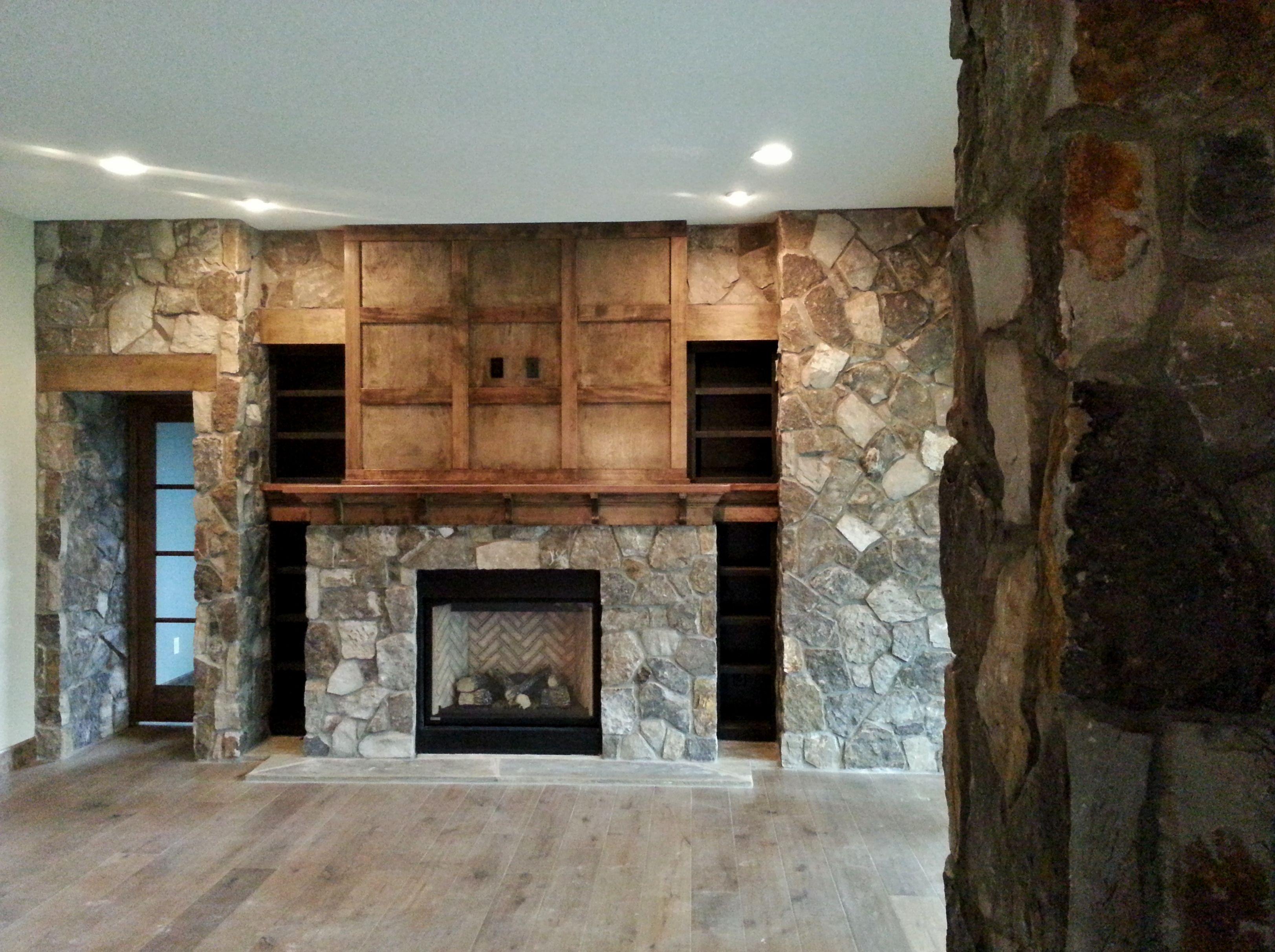 Natural Stone Gas Fireplace Stone Veneer Interior