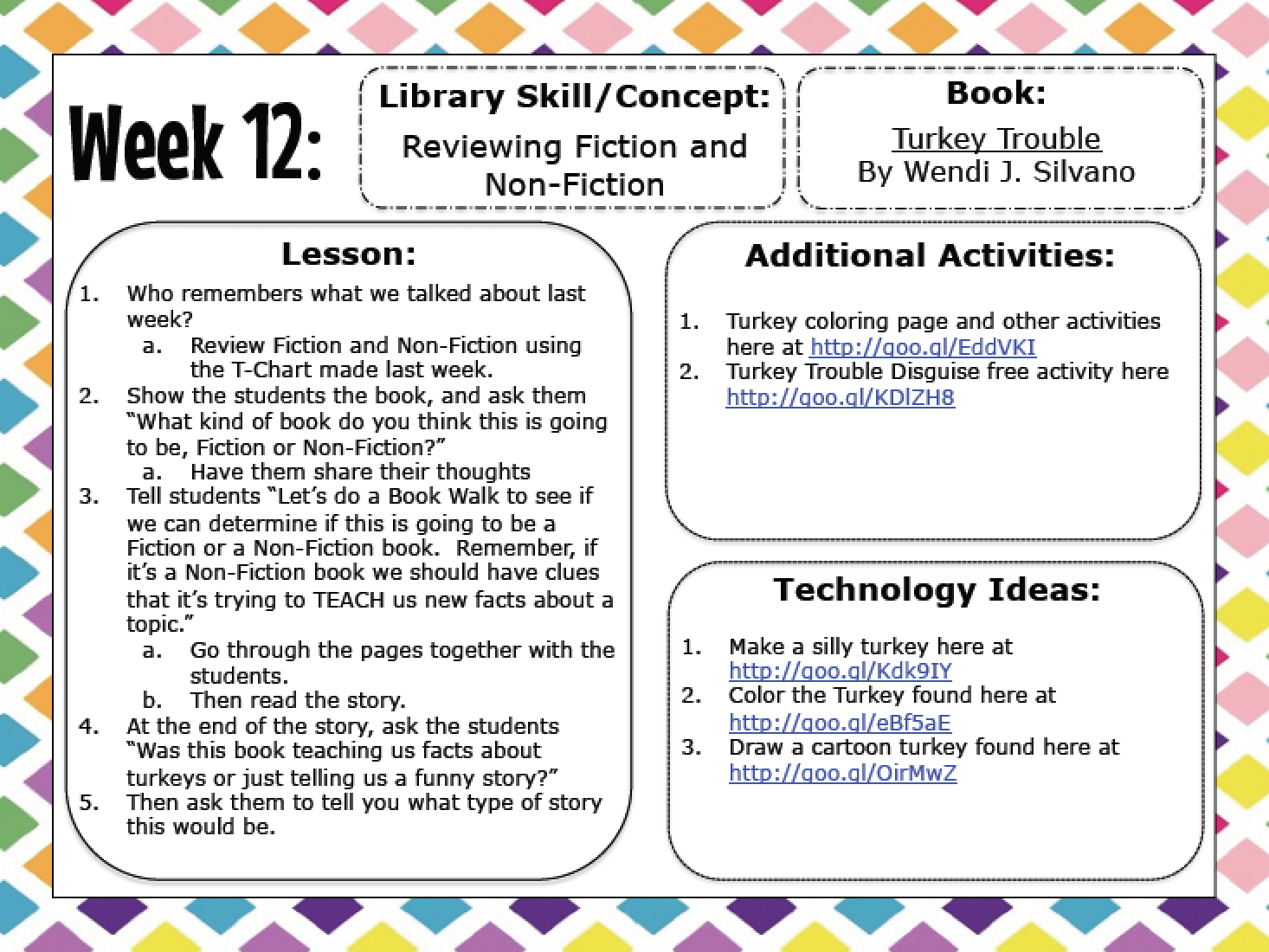 Great Collection Of Library Lessons For Kinder