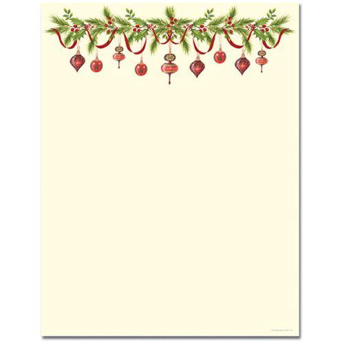 Free Printable Christmas Border Stationery Merry Christmas And