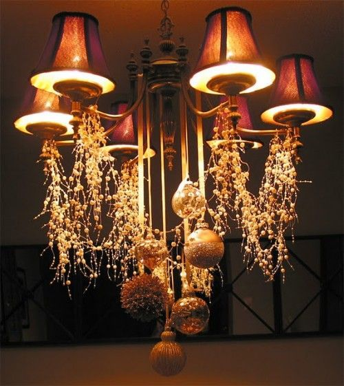 Cheerful Christmas Chandeliers For Cool Ceiling Decorating Ideas