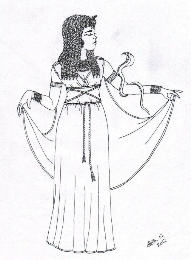 Cleopatra egyptian coloring pages