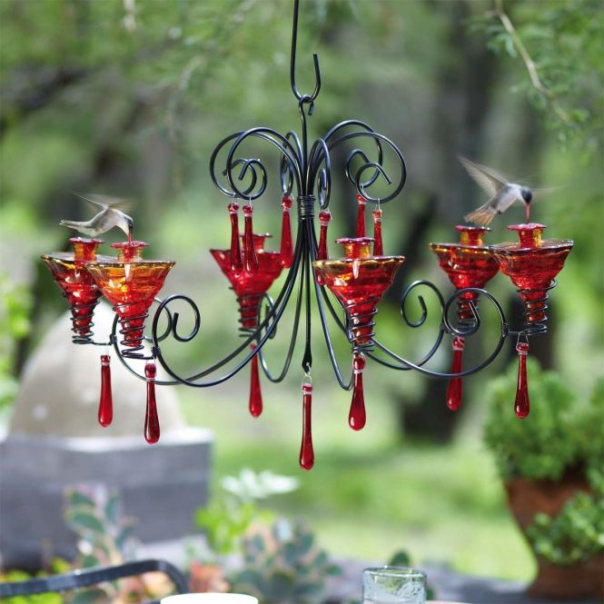 Parasol Grchglfr Grand Chandelier Hummingbird Feeder Flame Red Discontinued By Manufacturer