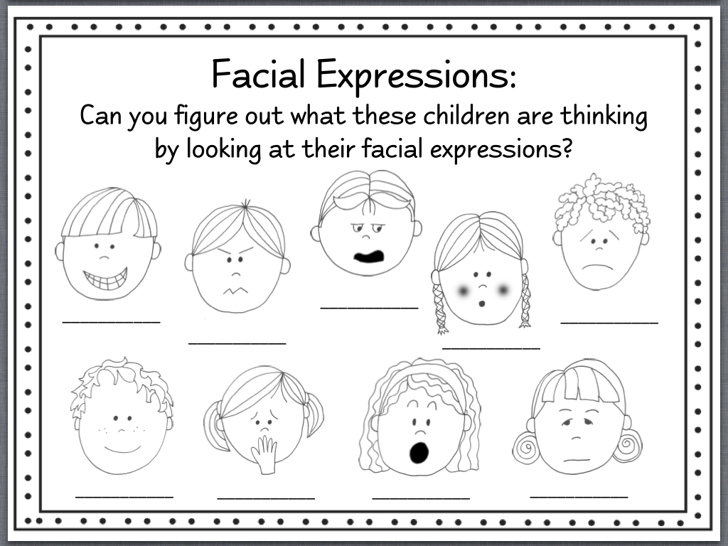 Identifying Emotions Worksheet