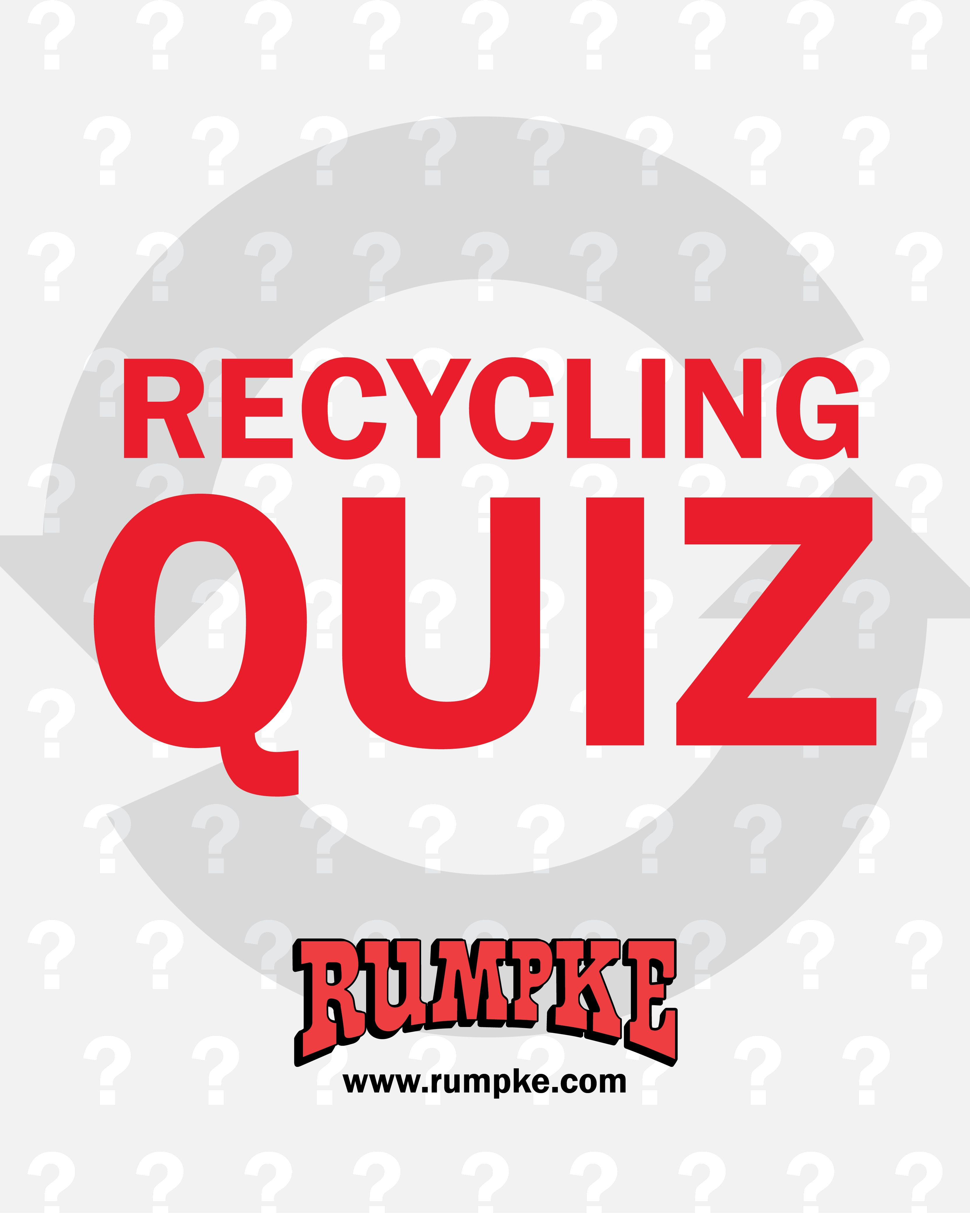 Think You Re Recycling Right Click The Pin To Take The Rumpke Recycling Quiz And Find Out What