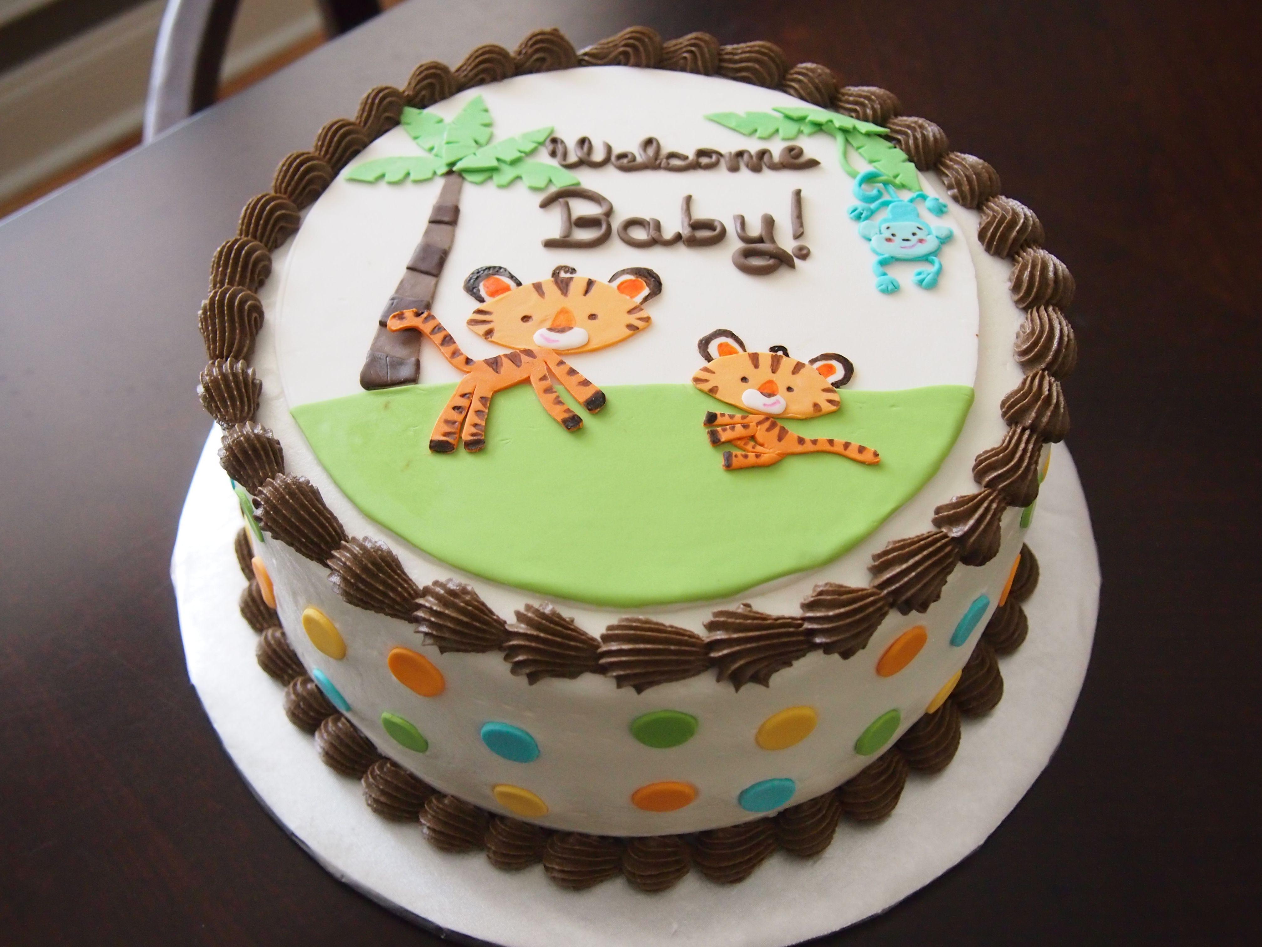 Fisher Price Rainforest Jungle Safari Baby Shower Cake
