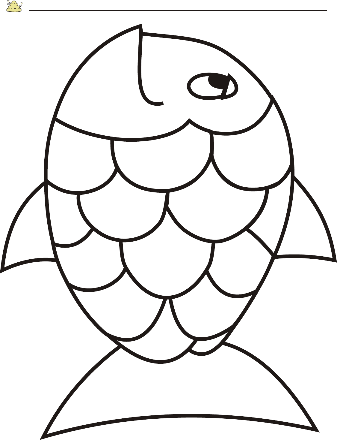 Free Rainbow Fish Template