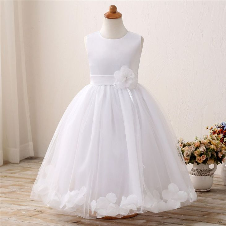Flower Baby Wedding Gown Childrenus Clothing Girl Party Wear Tulle