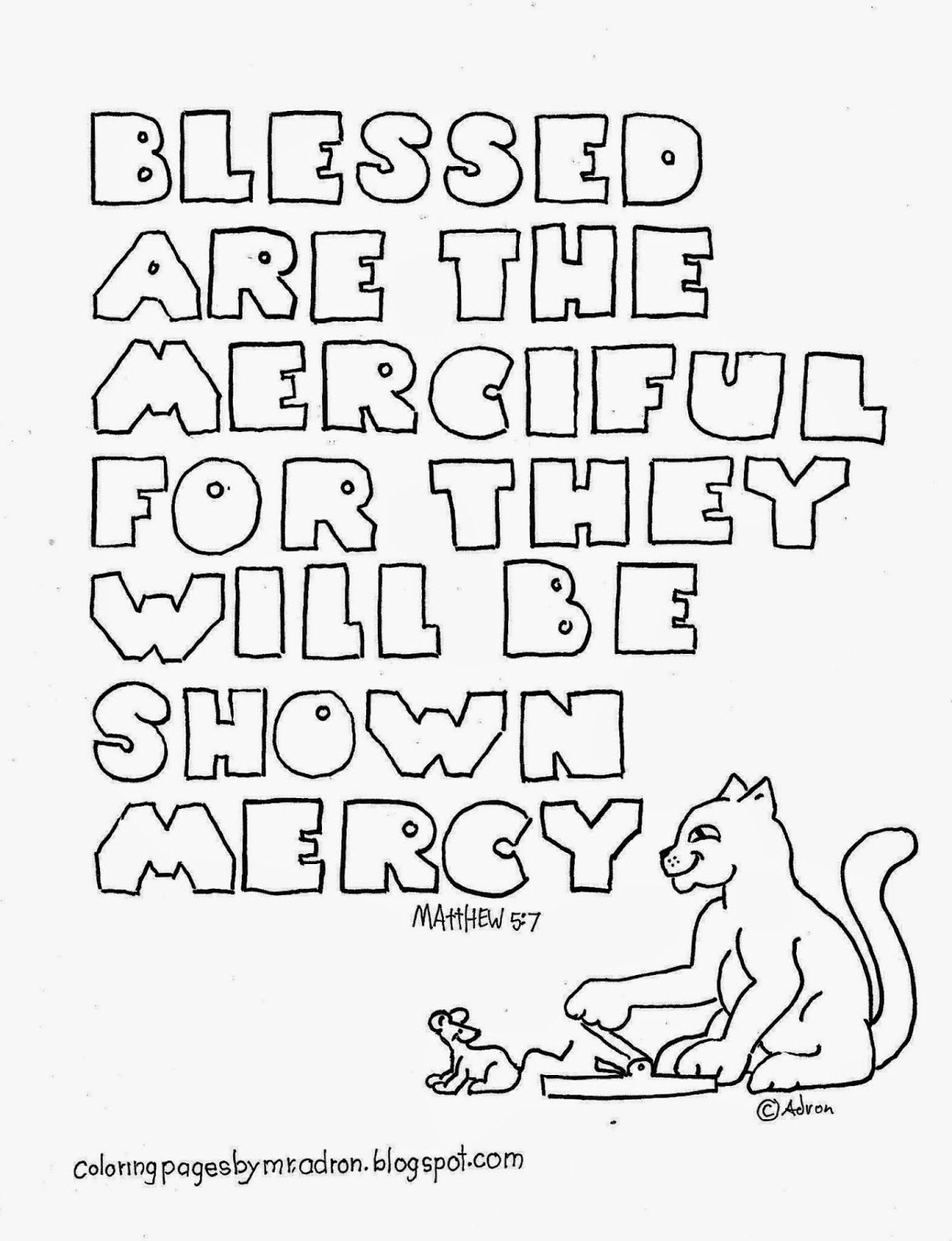Blessed Are The Merciful Coloring Page See More At My