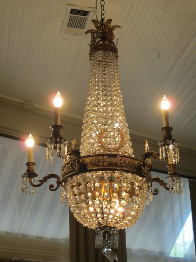 French Empire Chandelier Love Antique Crystal