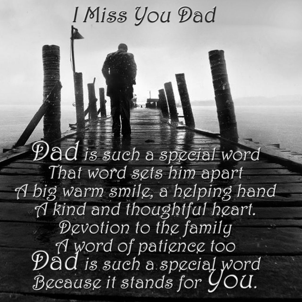 Dad Is Such A Special Word A Word That Brings To Mind