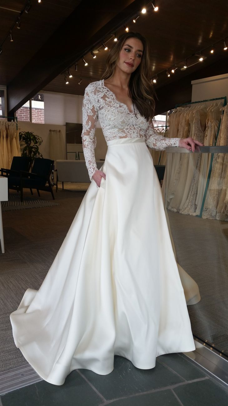 long sleeve wedding dress inside alta moda bridal Dresses