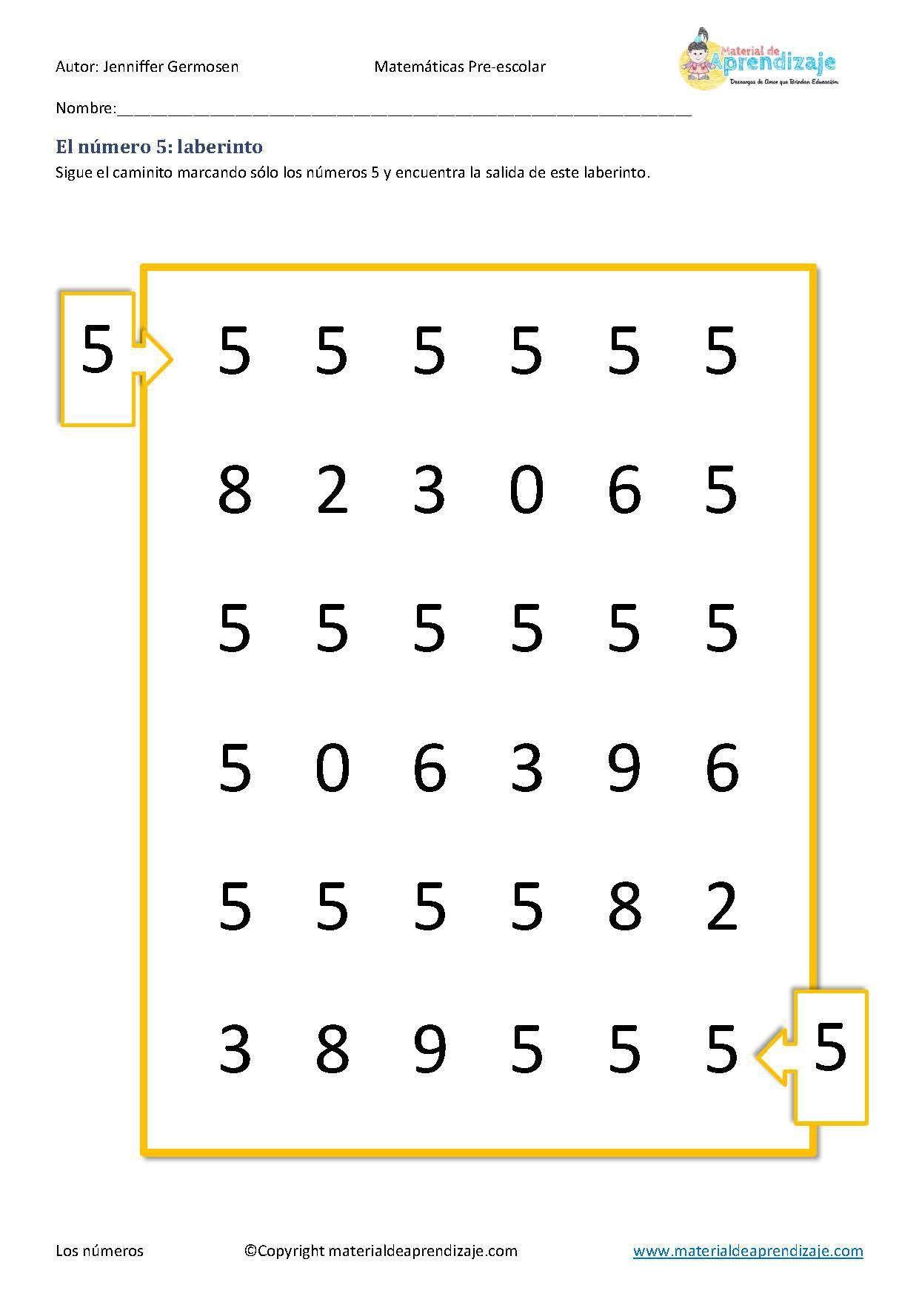 Fichas De Aprendizaje De Los Numeros Del 1 Al 10 Para