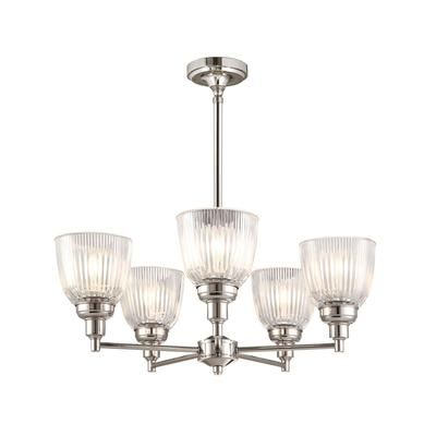 This Ribbed Glass Breakfast Chandelier Is Part Of A New Family Fixtures From The Martha Collection Lighting Combines Retro